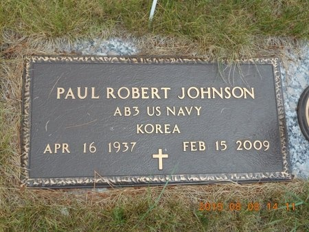 JOHNSON, PAUL ROBERT - Marquette County, Michigan | PAUL ROBERT JOHNSON - Michigan Gravestone Photos