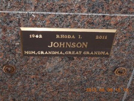 JOHNSON, RHODA I. - Marquette County, Michigan | RHODA I. JOHNSON - Michigan Gravestone Photos