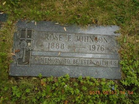 JOHNSON, ROSE F. - Marquette County, Michigan   ROSE F. JOHNSON - Michigan Gravestone Photos