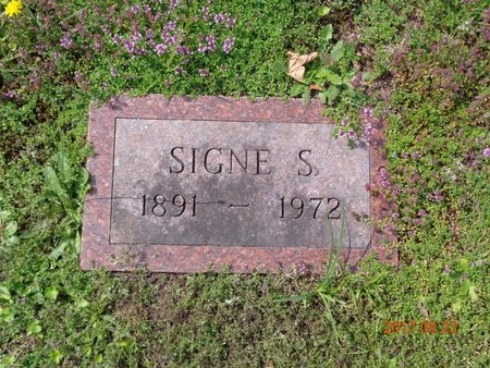 JOHNSON, SIGNE S. - Marquette County, Michigan | SIGNE S. JOHNSON - Michigan Gravestone Photos