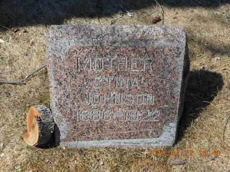 JOHNSON, STINA - Marquette County, Michigan | STINA JOHNSON - Michigan Gravestone Photos