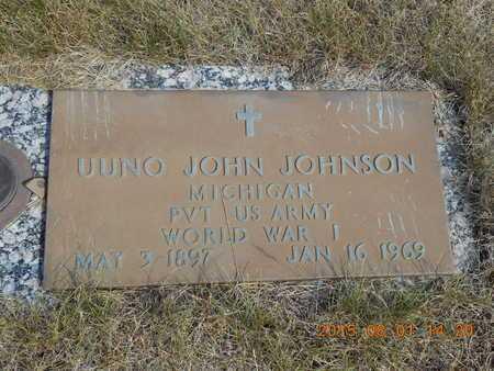 JOHNSON, UUNO JOHN - Marquette County, Michigan | UUNO JOHN JOHNSON - Michigan Gravestone Photos