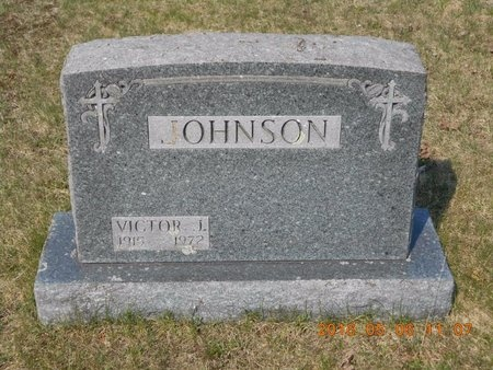 JOHNSON, VICTOR J. - Marquette County, Michigan | VICTOR J. JOHNSON - Michigan Gravestone Photos