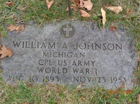 JOHNSON, WILLIAM A. - Marquette County, Michigan | WILLIAM A. JOHNSON - Michigan Gravestone Photos