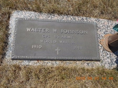 JOHNSON, WALTER W. - Marquette County, Michigan | WALTER W. JOHNSON - Michigan Gravestone Photos