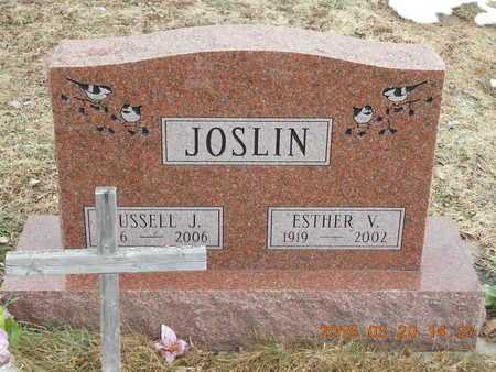 JOSLIN, ESTHER V. - Marquette County, Michigan | ESTHER V. JOSLIN - Michigan Gravestone Photos