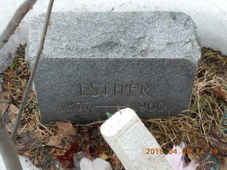 JUNE, ESTHER - Marquette County, Michigan | ESTHER JUNE - Michigan Gravestone Photos