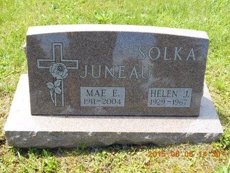 JUNEAU, MAE E. - Marquette County, Michigan | MAE E. JUNEAU - Michigan Gravestone Photos