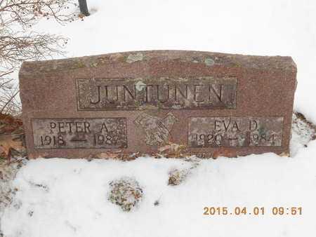 JUNTUNEN, EVA D. - Marquette County, Michigan | EVA D. JUNTUNEN - Michigan Gravestone Photos
