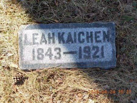 KAICHEN, LEAH - Marquette County, Michigan | LEAH KAICHEN - Michigan Gravestone Photos
