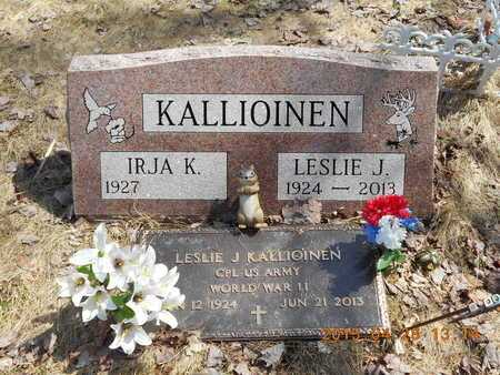 KALLIOINEN, IRJA K. - Marquette County, Michigan | IRJA K. KALLIOINEN - Michigan Gravestone Photos