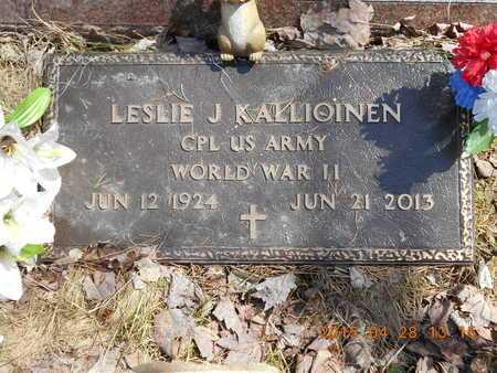 KALLIOINEN, LESLIE J. - Marquette County, Michigan | LESLIE J. KALLIOINEN - Michigan Gravestone Photos