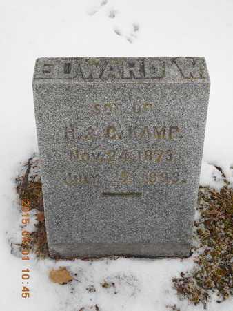 KAMP, EDWARD W. - Marquette County, Michigan | EDWARD W. KAMP - Michigan Gravestone Photos
