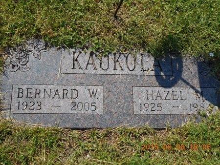 KAUKOLA, HAZEL M. - Marquette County, Michigan   HAZEL M. KAUKOLA - Michigan Gravestone Photos