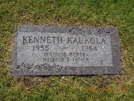 KAUKOLA, KENNETH - Marquette County, Michigan   KENNETH KAUKOLA - Michigan Gravestone Photos