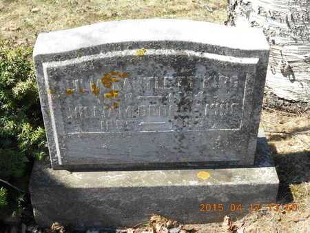 KING, WILLIAM GEORGE - Marquette County, Michigan   WILLIAM GEORGE KING - Michigan Gravestone Photos