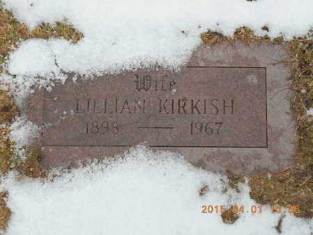 KIRKISH, LILLIAN - Marquette County, Michigan   LILLIAN KIRKISH - Michigan Gravestone Photos