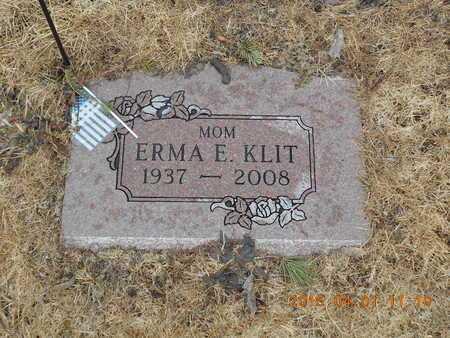 KLIT, ERMA E. - Marquette County, Michigan | ERMA E. KLIT - Michigan Gravestone Photos