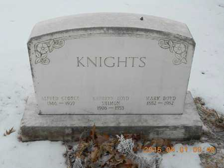 KNIGHTS, ALFRED GEORGE - Marquette County, Michigan | ALFRED GEORGE KNIGHTS - Michigan Gravestone Photos