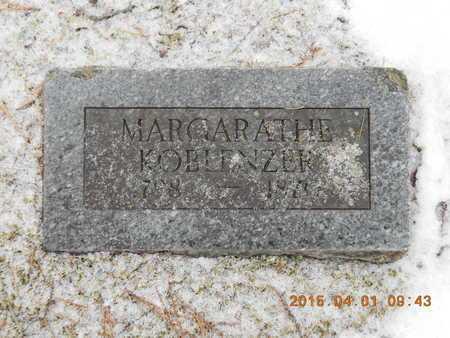 KOBLENZER, MARGARATHE - Marquette County, Michigan   MARGARATHE KOBLENZER - Michigan Gravestone Photos