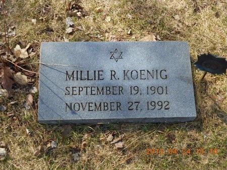 KOENIG, MILLIE R. - Marquette County, Michigan | MILLIE R. KOENIG - Michigan Gravestone Photos