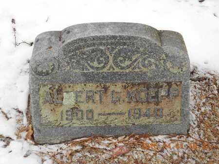 KOEPP, ALBERT G. - Marquette County, Michigan | ALBERT G. KOEPP - Michigan Gravestone Photos