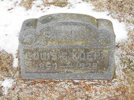 KOEPP, LOUIS C. - Marquette County, Michigan   LOUIS C. KOEPP - Michigan Gravestone Photos