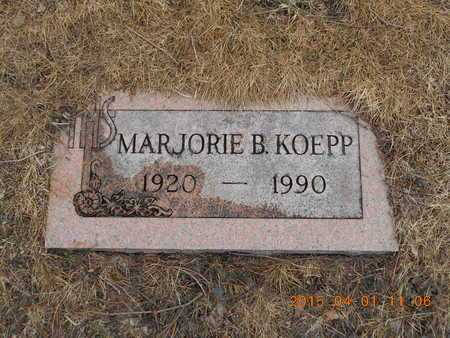 KOEPP, MARJORIE B. - Marquette County, Michigan   MARJORIE B. KOEPP - Michigan Gravestone Photos