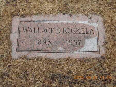 KOSKELA, WALLACE D. - Marquette County, Michigan   WALLACE D. KOSKELA - Michigan Gravestone Photos
