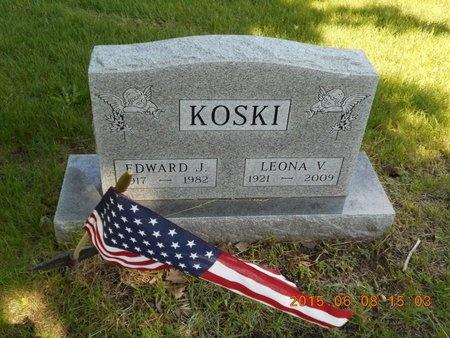 KOSKI, LEONA V. - Marquette County, Michigan | LEONA V. KOSKI - Michigan Gravestone Photos