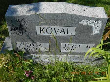 KOVAL, JOYCE M. - Marquette County, Michigan | JOYCE M. KOVAL - Michigan Gravestone Photos