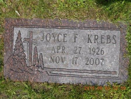 KREBS, JOYCE F. - Marquette County, Michigan   JOYCE F. KREBS - Michigan Gravestone Photos