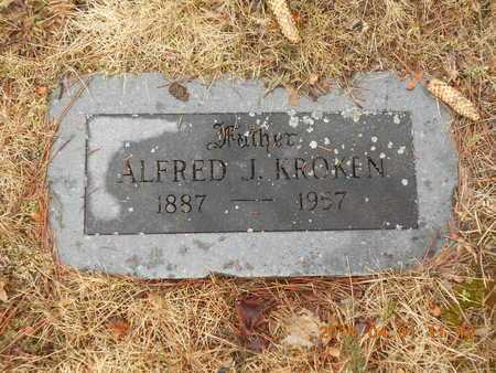 KROKEN, ALFRED J. - Marquette County, Michigan | ALFRED J. KROKEN - Michigan Gravestone Photos