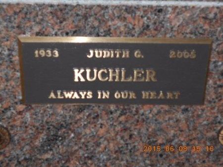 KUCHLER, JUDITH G. - Marquette County, Michigan | JUDITH G. KUCHLER - Michigan Gravestone Photos