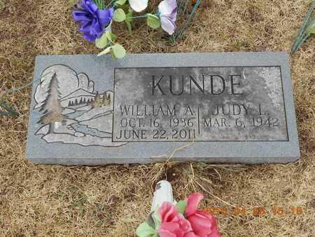 KUNDE, WILLIAM A. - Marquette County, Michigan | WILLIAM A. KUNDE - Michigan Gravestone Photos