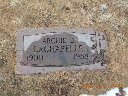 LACHAPELLE, ARCHIE D. - Marquette County, Michigan | ARCHIE D. LACHAPELLE - Michigan Gravestone Photos