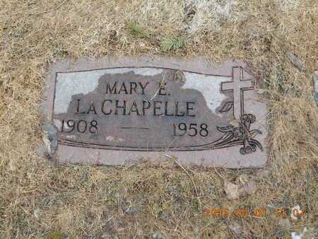 LACHAPELLE, MARY E. - Marquette County, Michigan   MARY E. LACHAPELLE - Michigan Gravestone Photos