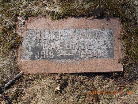 LAUX LAFONDE, RUTH - Marquette County, Michigan   RUTH LAUX LAFONDE - Michigan Gravestone Photos