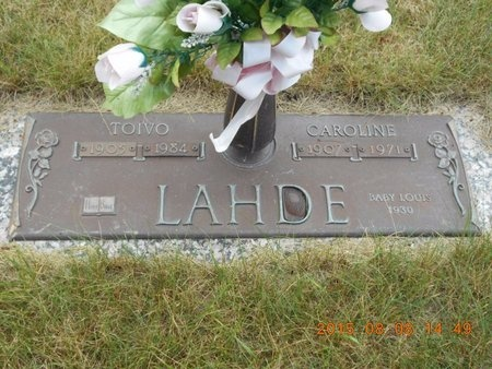 LAHDE, CAROLINE - Marquette County, Michigan | CAROLINE LAHDE - Michigan Gravestone Photos