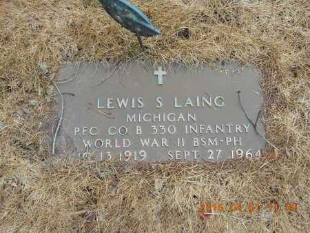 LAING, LEWIS S. - Marquette County, Michigan | LEWIS S. LAING - Michigan Gravestone Photos