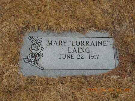 LAING, MARY - Marquette County, Michigan | MARY LAING - Michigan Gravestone Photos
