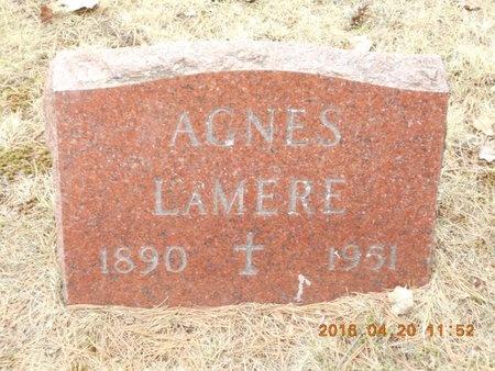 LAMERE, AGNES - Marquette County, Michigan | AGNES LAMERE - Michigan Gravestone Photos