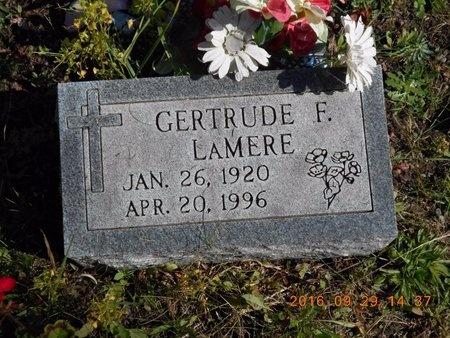 LAMERE, GERTRUDE F. - Marquette County, Michigan   GERTRUDE F. LAMERE - Michigan Gravestone Photos