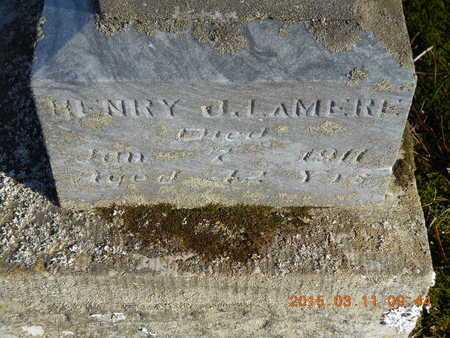 LAMERE, HENRY J. - Marquette County, Michigan | HENRY J. LAMERE - Michigan Gravestone Photos