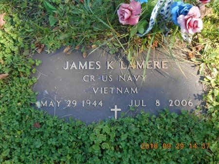 LAMERE, JAMES K. - Marquette County, Michigan   JAMES K. LAMERE - Michigan Gravestone Photos