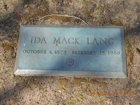 MACK LANG, IDA - Marquette County, Michigan | IDA MACK LANG - Michigan Gravestone Photos