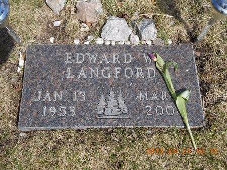 LANGFORD, EDWARD W. - Marquette County, Michigan | EDWARD W. LANGFORD - Michigan Gravestone Photos