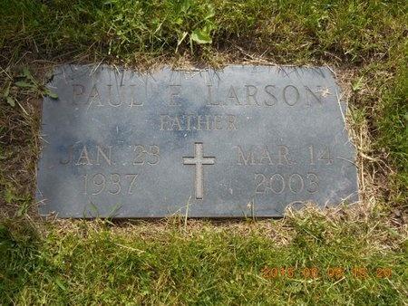 LARSON, PAUL F. - Marquette County, Michigan   PAUL F. LARSON - Michigan Gravestone Photos