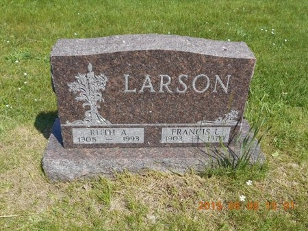 LARSON, RUTH A. - Marquette County, Michigan | RUTH A. LARSON - Michigan Gravestone Photos