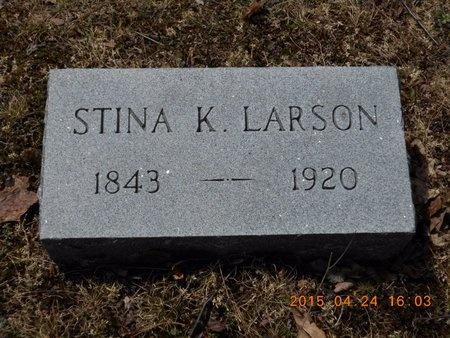 LARSON, STINA K. - Marquette County, Michigan   STINA K. LARSON - Michigan Gravestone Photos